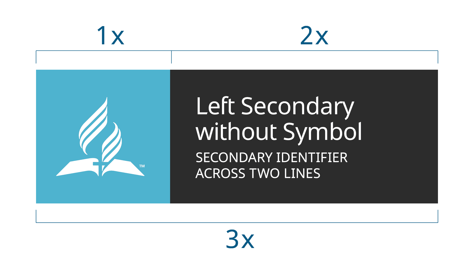 Signage identity guideline system an alternate option for horizontal signage is to use a large symbol left aligned in a square container based on the same 12 proportions of the vertical biocorpaavc Choice Image